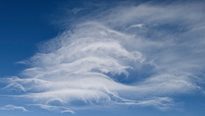 Feather clouds in blue sky